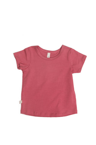 basic tee in 'rose' jersey