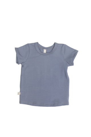 basic tee in 'cornflower' jersey