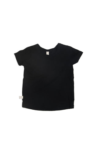 basic tee in 'black' jersey