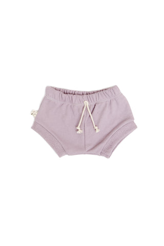 shorties in 'lavender gray'