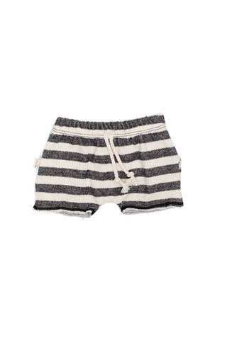 boy shorts in 'black and cream stripe'