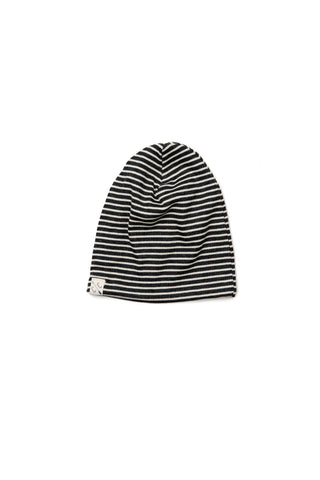 slouch beanie in 'charcoal stripe'