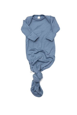 ribbed knotted sleeper in 'steel blue'