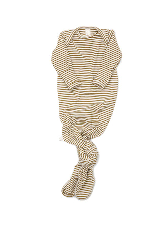 ribbed knotted sleeper in 'bronze stripe'