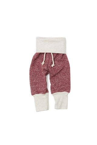 skinny sweats in 'cranberry'