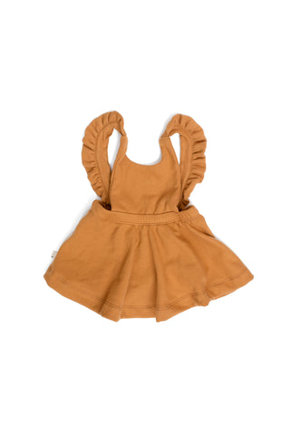 pinafore in 'toffee'