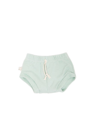 shorties in 'aqua'