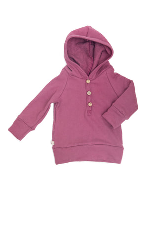 henley hoodie in 'orchid'