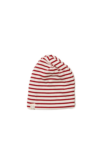slouch beanie - candy cane stripe