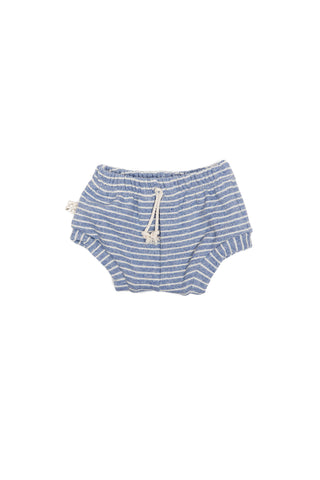 shorties in 'chambray stripe'