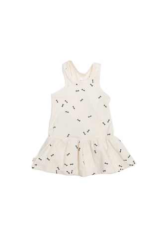 twirly tank dress in 'bows'