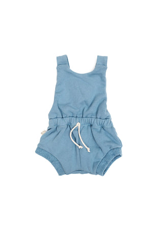 romper shortie in 'carolina blue'
