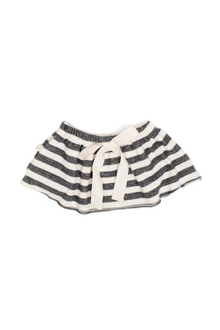 pocket skirt in 'black and cream stripe' [size down]
