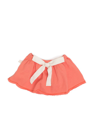 pocket skirt in 'coral' [size down]