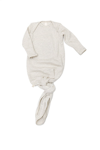 ribbed knotted sleeper in 'light gray stripe'