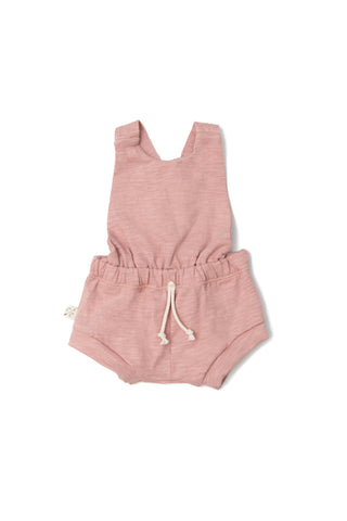 jersey romper shortie in 'clay pink'