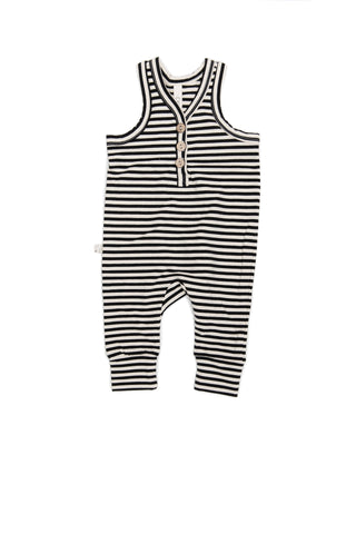Tank romper in 'black stripe'