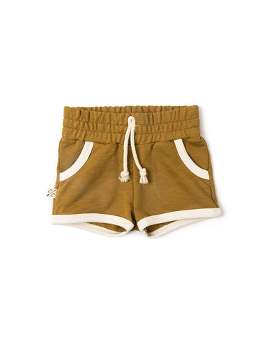 retro short - wheat
