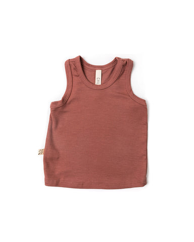 rib knit tank top - quartz