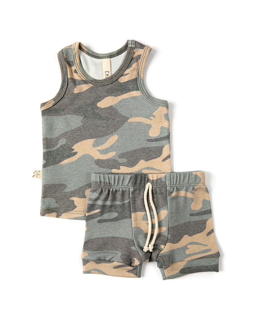 rib knit tank top - faded camo  [please read sizing note]