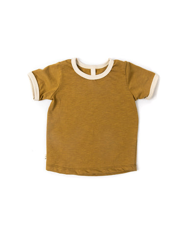ringer tee - wheat