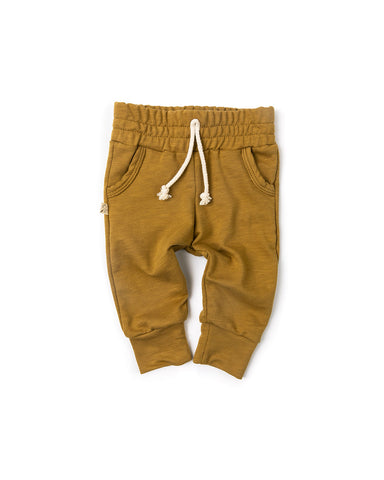 slub jogger - wheat