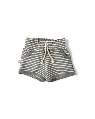 french terry retro short - heather gray inverse