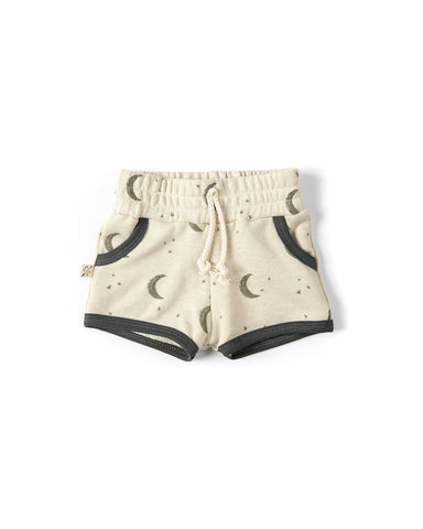 french terry retro short - lunar on linen