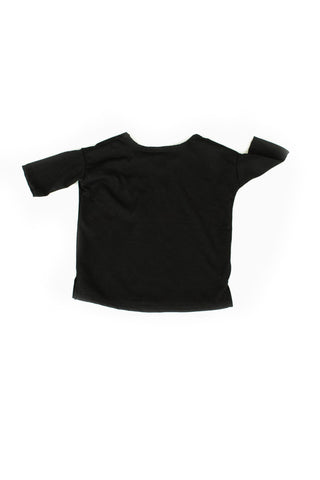 slouch tee in 'black' jersey