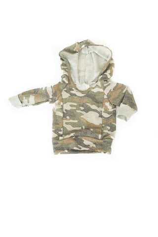 Beach hoodie in 'muted camo'