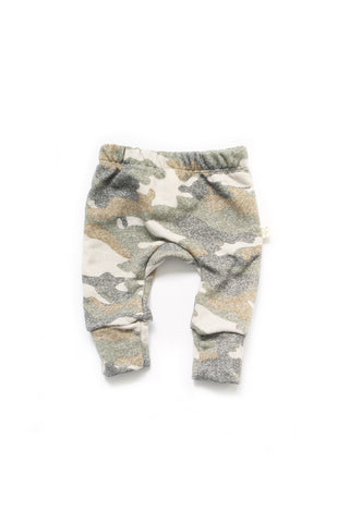 Gusset pants in 'muted camo'