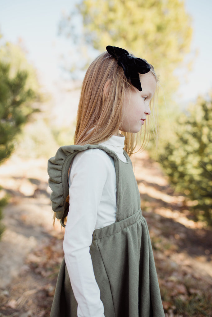 pinafore in 'olive'
