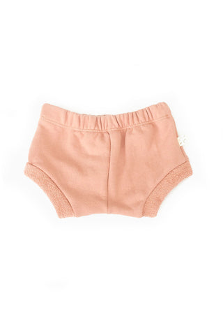 shorties in 'clay pink'