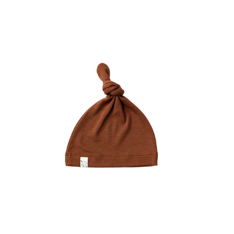 knot hat - cognac [final sale]