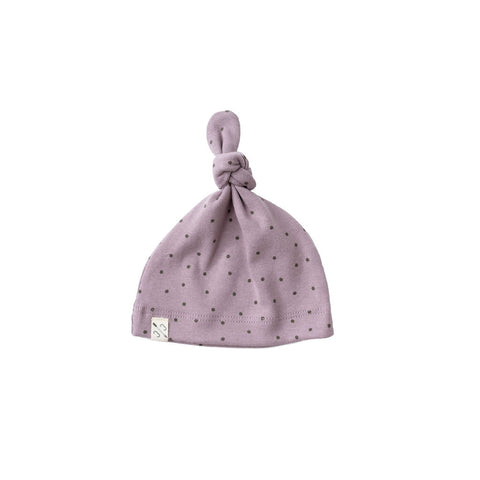 knot hat - dots on thistle [final sale]