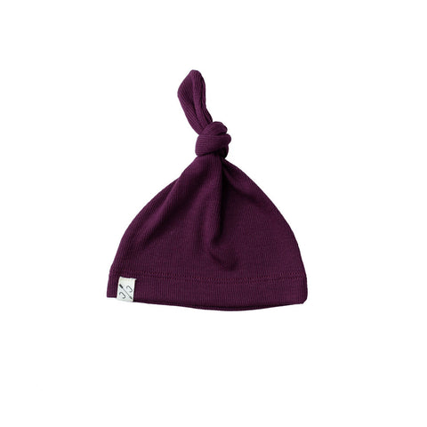 knot hat - eggplant [final sale]