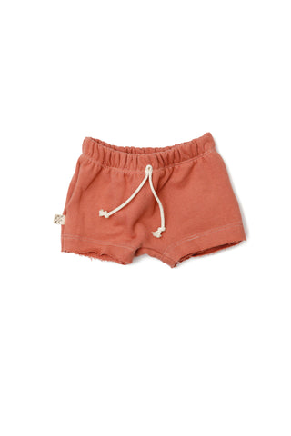 boy shorts - faded red