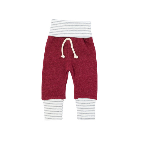 skinny sweats in 'maroon'