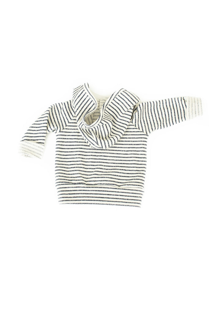 Beach hoodie in 'narrow stripe'