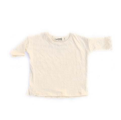 slouch tee in 'natural' jersey