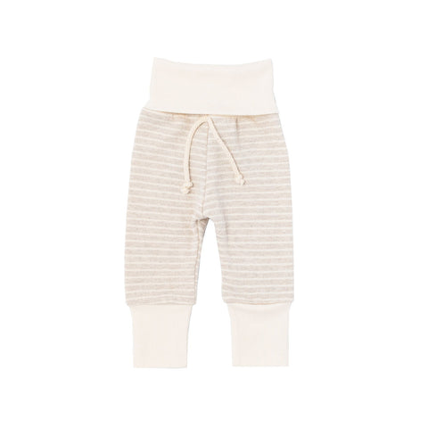 skinny sweats in 'oatmeal stripe'