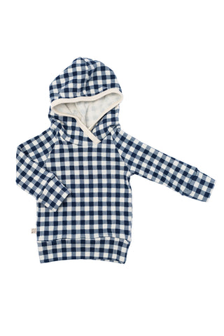 trademark raglan hoodie in 'navy plaid'