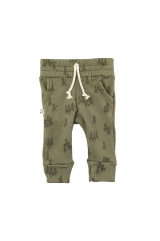 jogger in 'trees' on olive