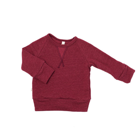 pullover crew in 'maroon'