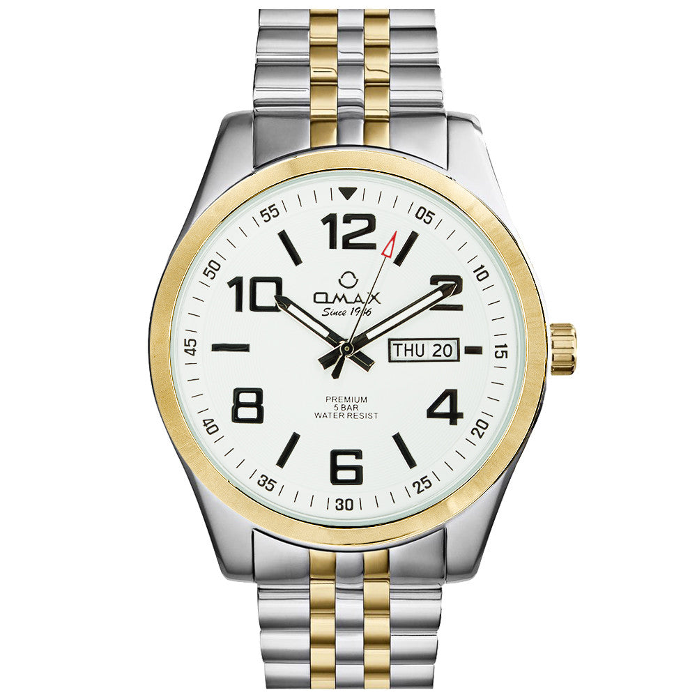 Dylan Stainless Steel Day/Date Watch (Dual-Tone)