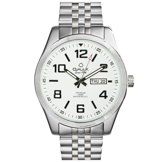 Dylan Stainless Steel Day/Date Watch