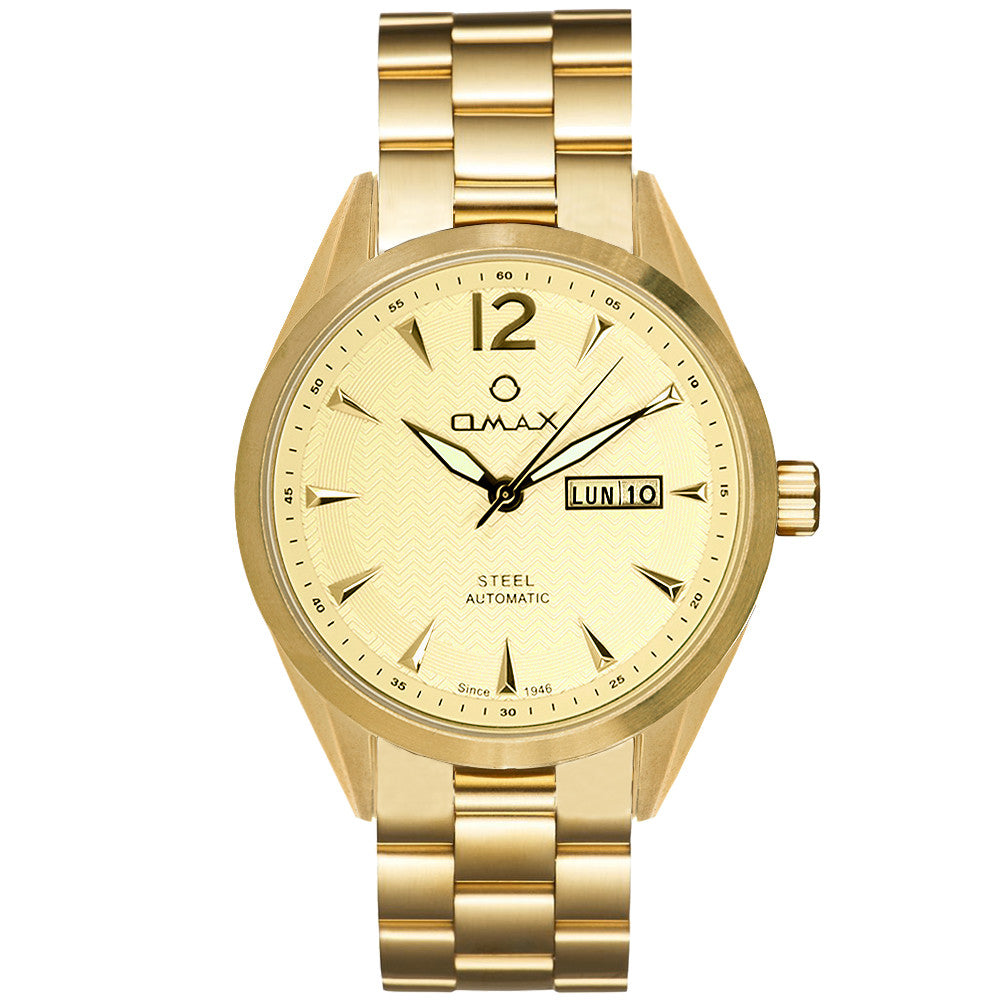 Lewis Automatic Stainless Steel Day/Date Watch (Gold)