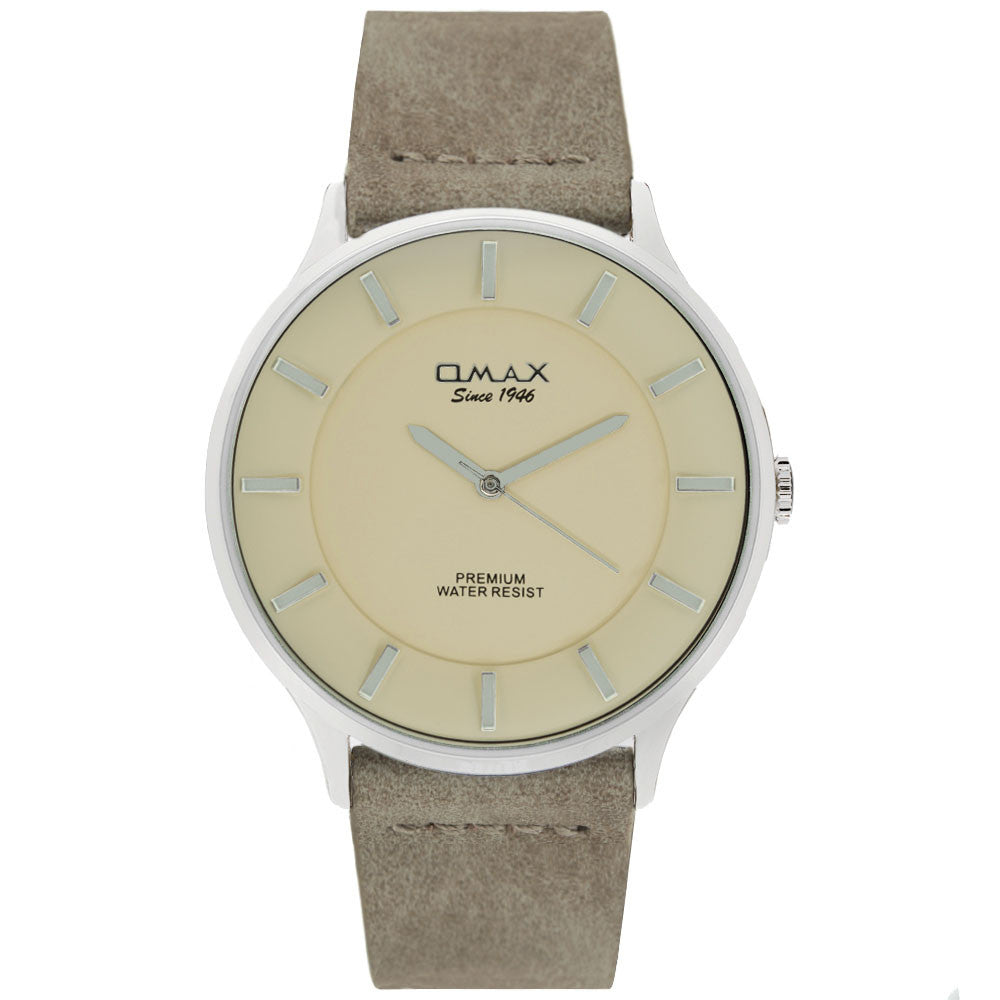 Colton Silver Tone Rustic Leather Watch