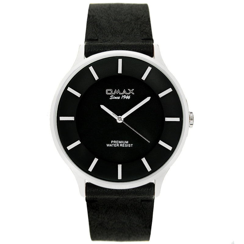 Colton Silver Tone Leather Watch