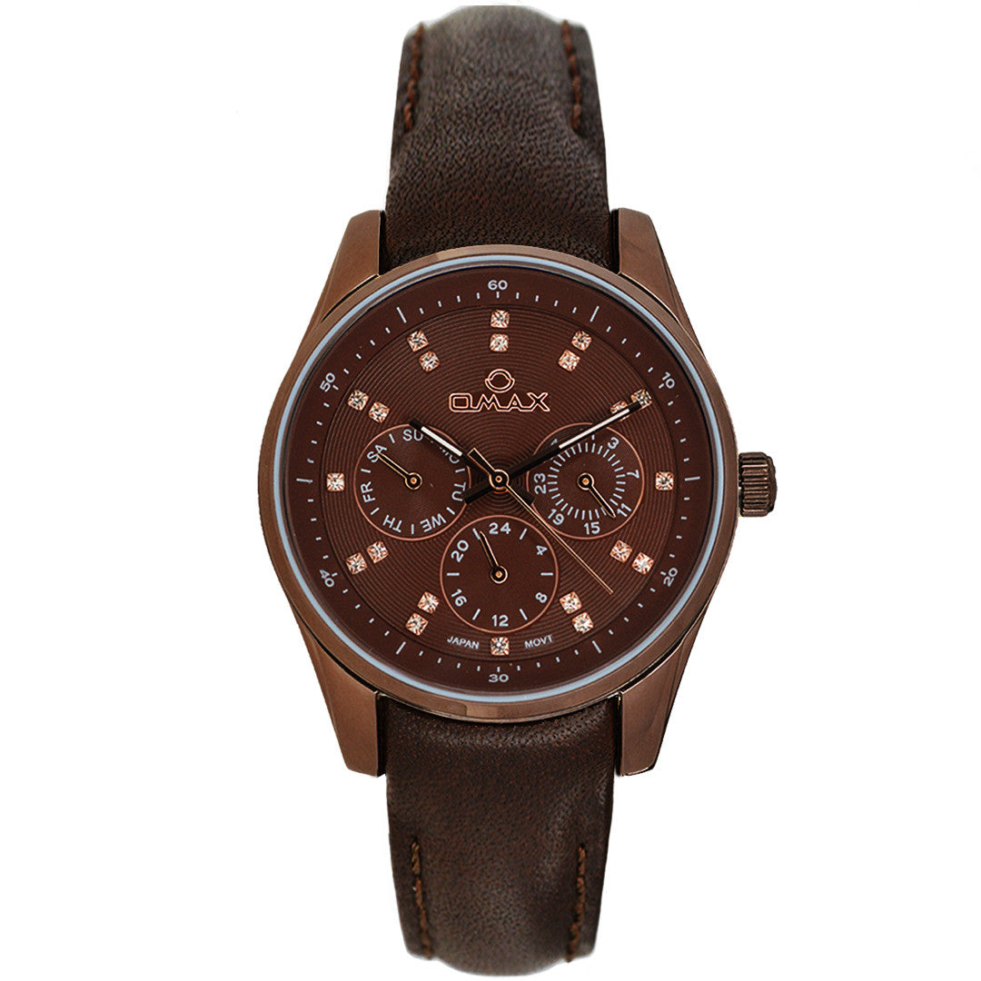 Bailey Multi-Function Leather Band Watch